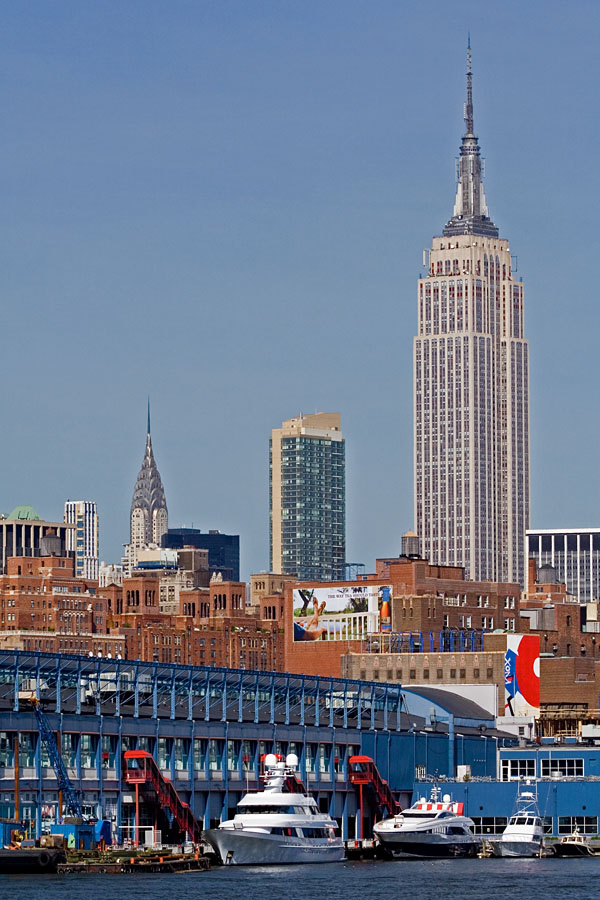 Chelsea piers, Chrysler building ja Empire state building