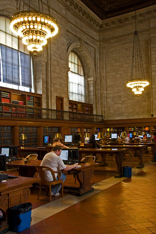 A hall at New York public library