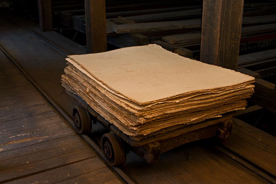 Dry cardboard at Verla