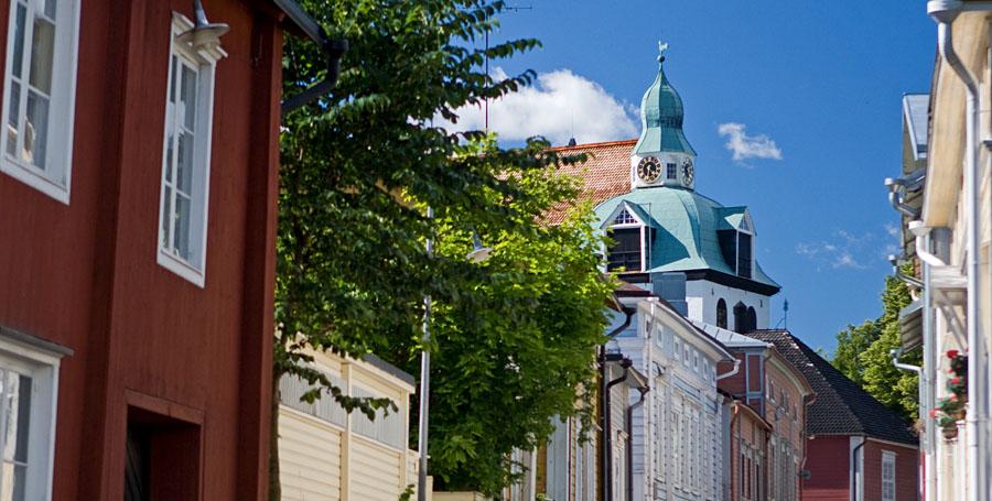 Näkymä Porvoon vanhastakaupungista