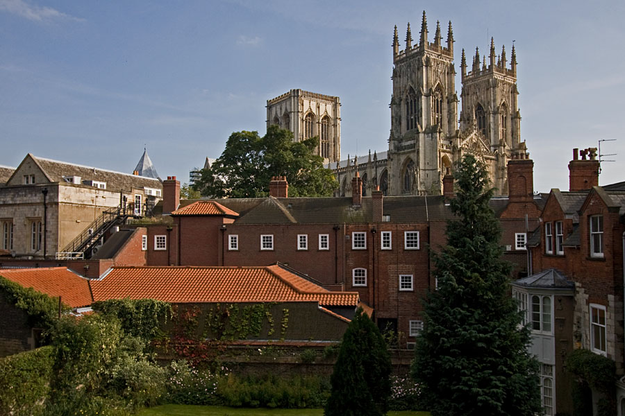York Minster seen from the city wall