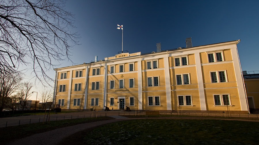 The main building of the Finnish naval academy