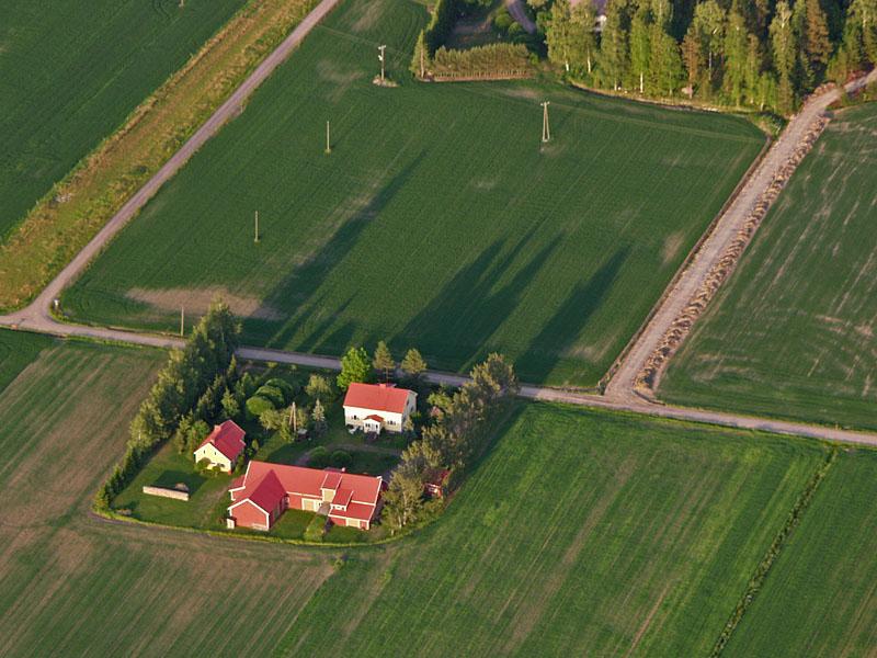 Maatila ilmakuvassa