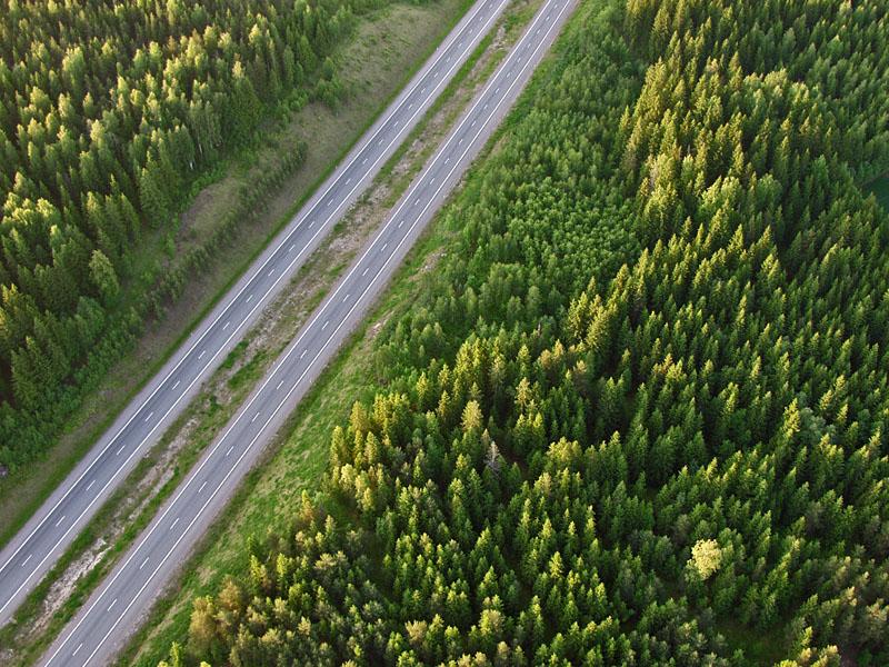 The highway from Helsinki to Lahti at Mäntsälä