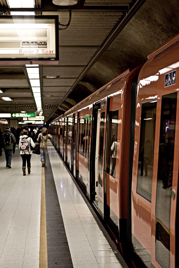 Metro train at Rautatientori