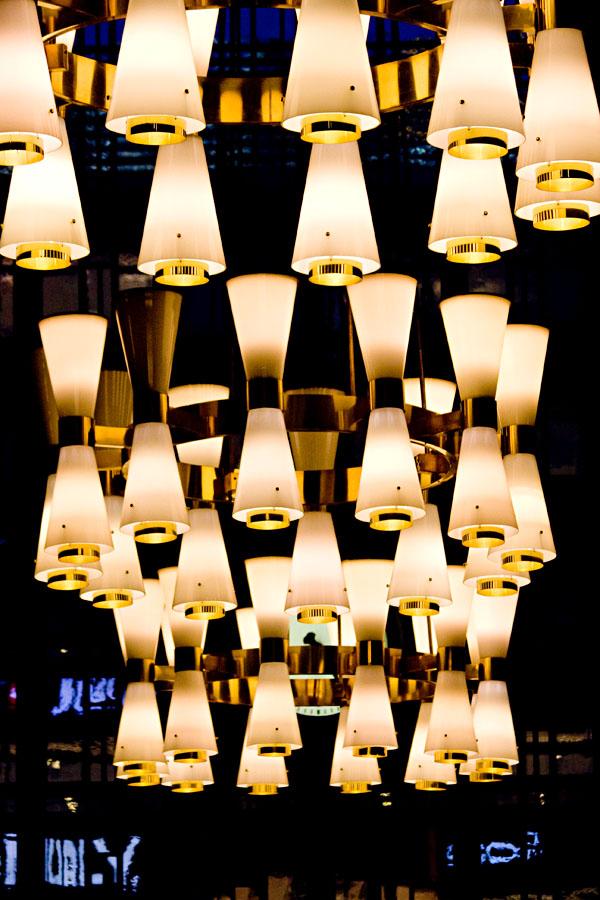 Lamppuja Rautatieaseman katossa