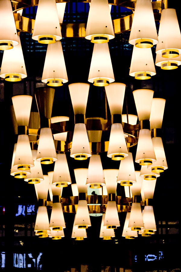Lamps at the railway station