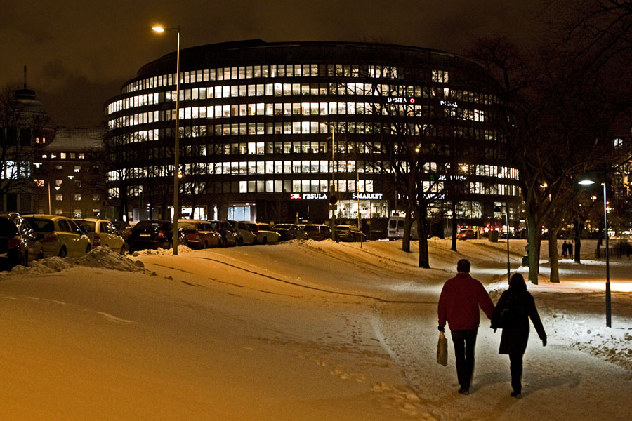 Ympyrätalo building from Tokoinranta