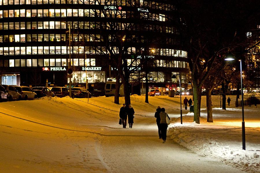 Ympyrätalo building from Tokoinranta