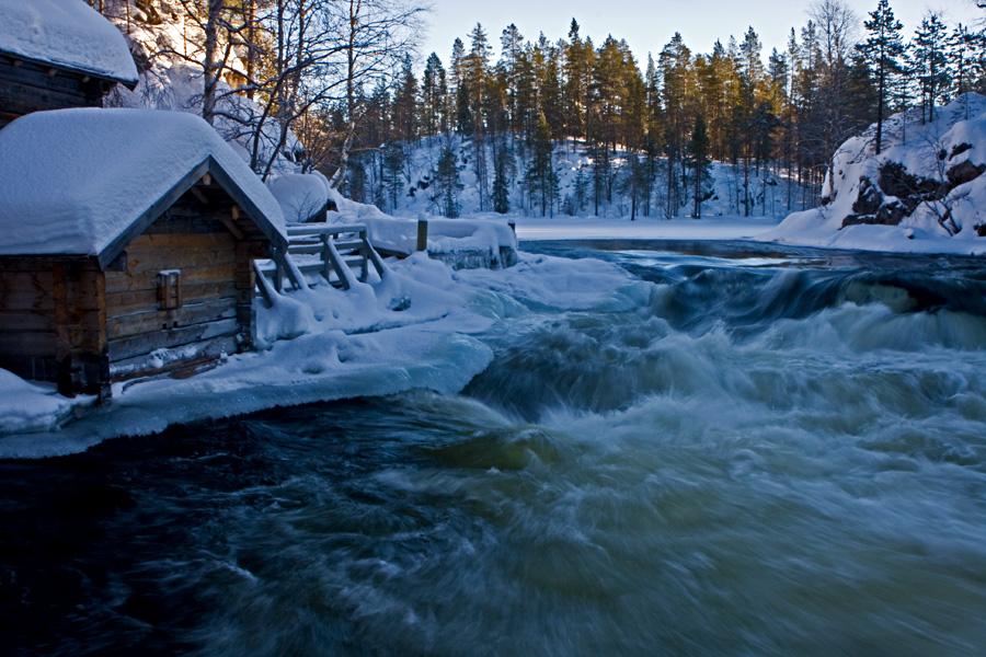 Kitkajoen Myllykoski Kuusamossa