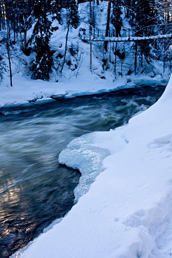 Kitkajoen Myllykoski Oulangan kansallispuistossa Kuusamossa