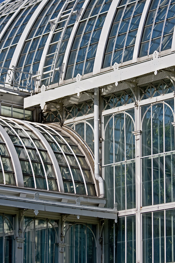 A greenhouse at the botanical garden