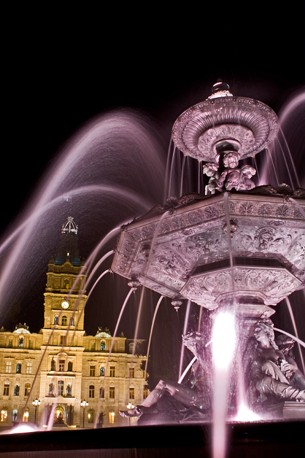 A fountain in front of the parliament house