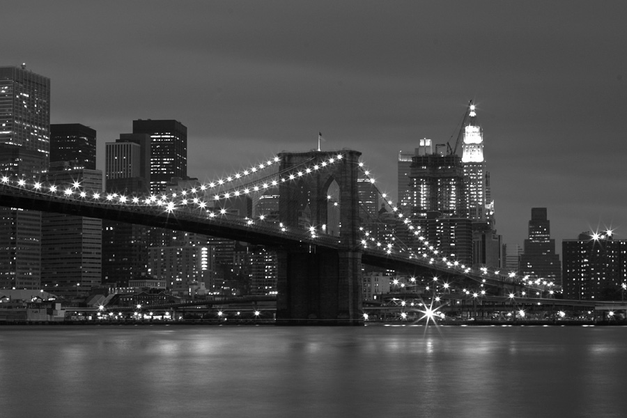 Brooklyn Bridge and downtown Manhattan