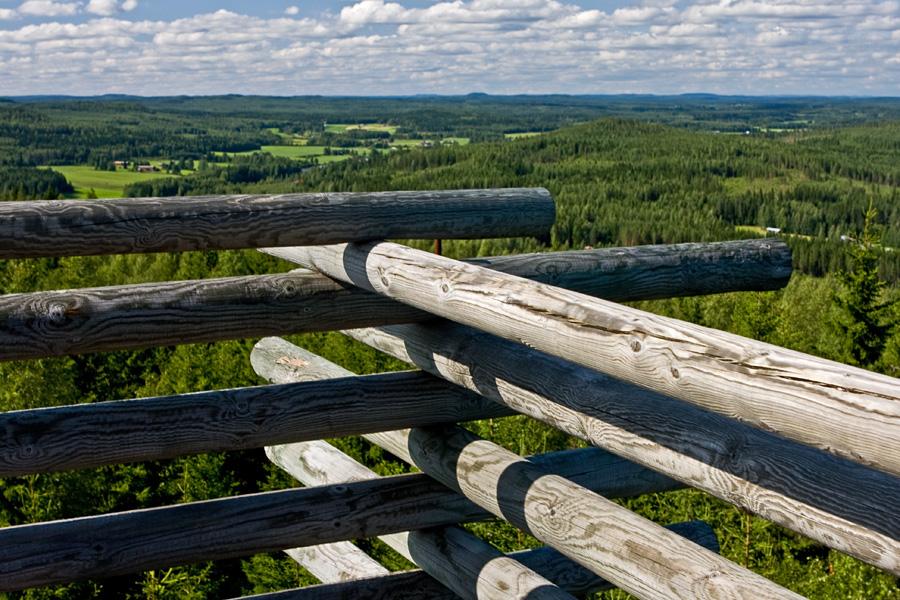 Näkymä Väisälänmäen näkötornista pohjoiseen
