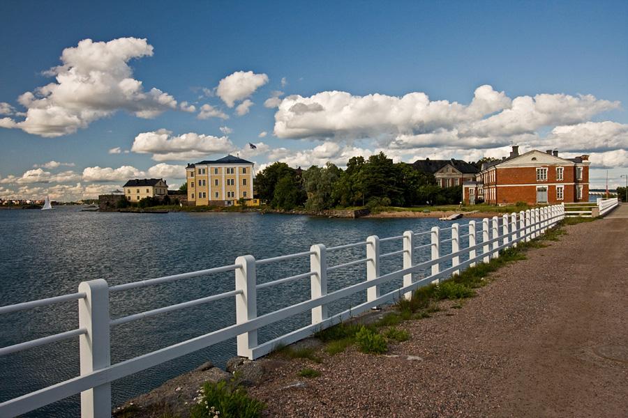 Finnish Naval Academy on Länsi-Musta island in Suomenlinna