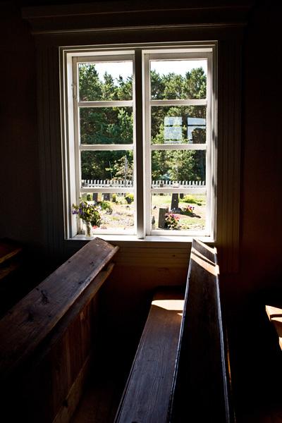 Sisänäkymä Jurmon kappelista