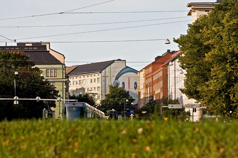 Raitiovaunu 8 Helsinginkadulla
