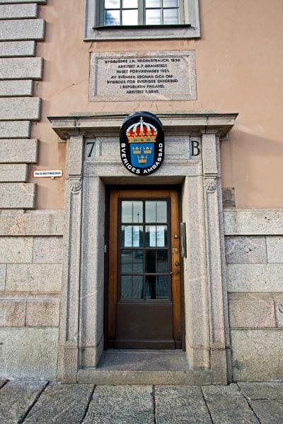 The Swedish embassy in Helsinki