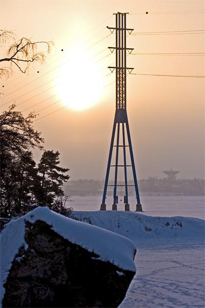Näkymä Rajasaaresta Lauttasaaren suuntaan