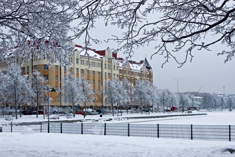 Talvinen Siltasaarenranta