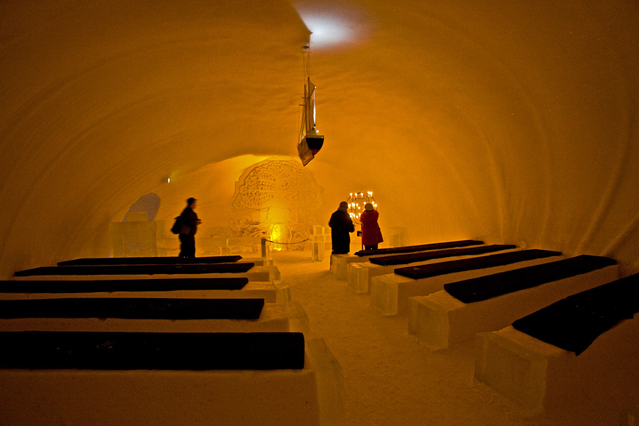 The chapel at the Kemi Snow Castle