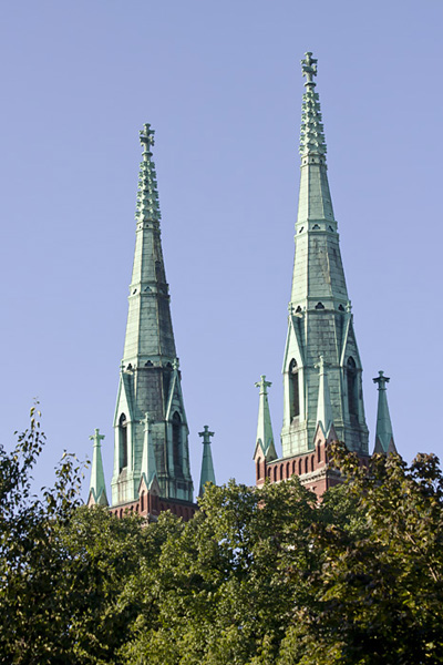 The towers of St. John's church