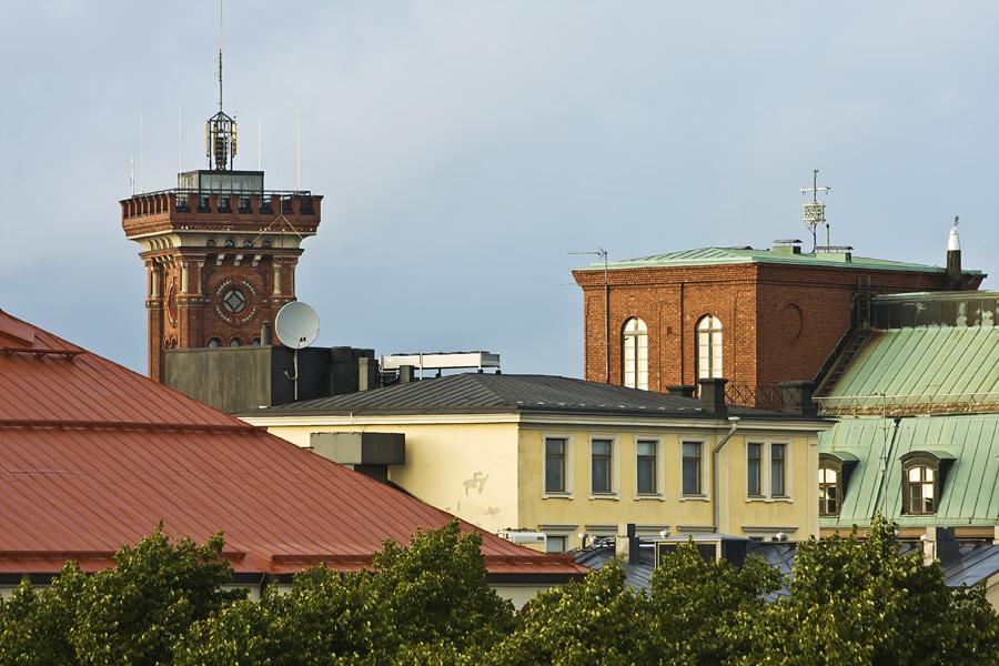 Erottajan paloaseman torni ja Kaartinkaupungin taloja
