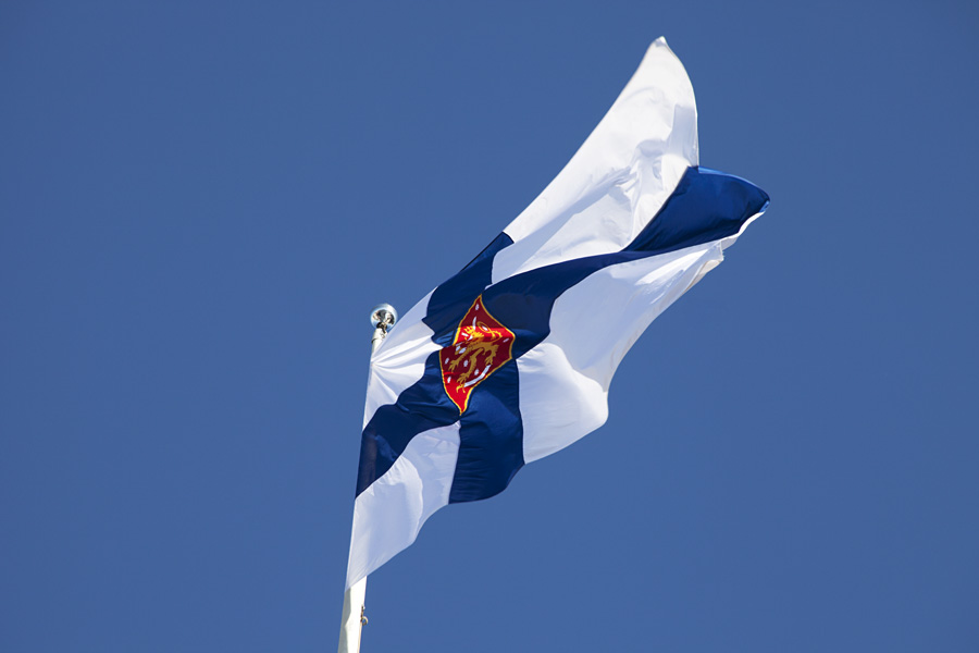 The Finnish state flag