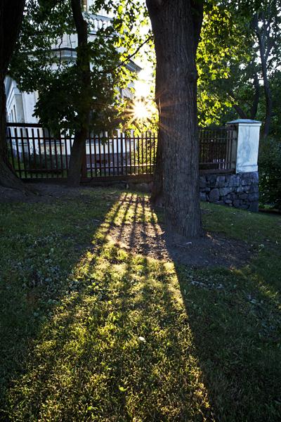 Laskevan auringon säteet